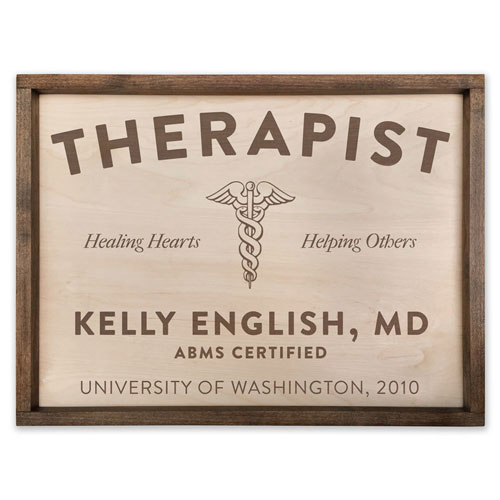 Best Physical Therapist Gifts - Handcrafted wood PT sign