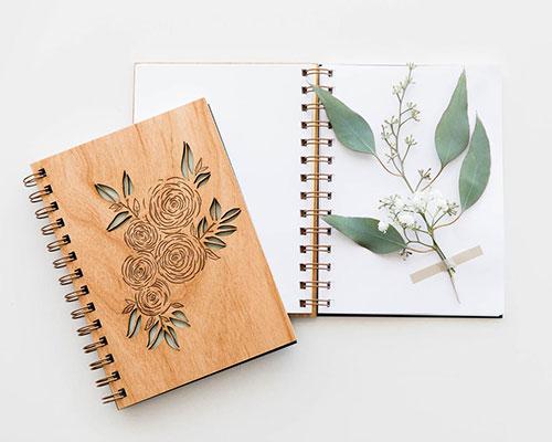 Laser Cut Wood Journal