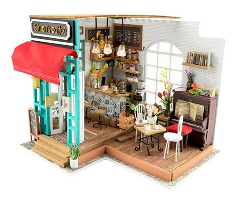 Build-your-own miniature coffee shop