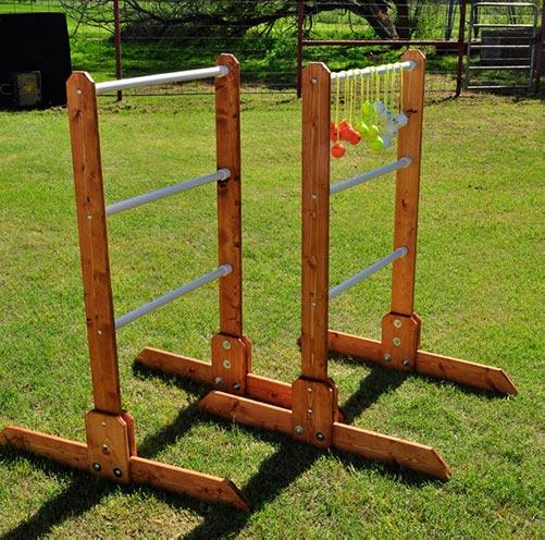 Wood ladder toss game