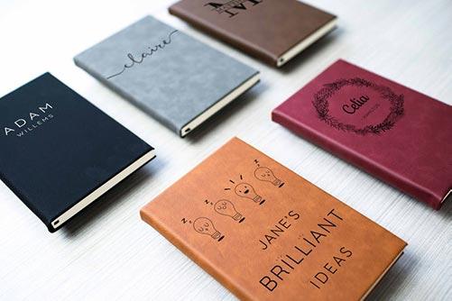 Custom engraved journal