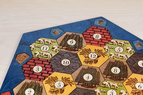 Custom made board game compatable with Catan