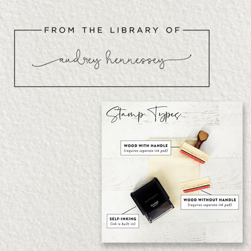 Personalized library ink stamp