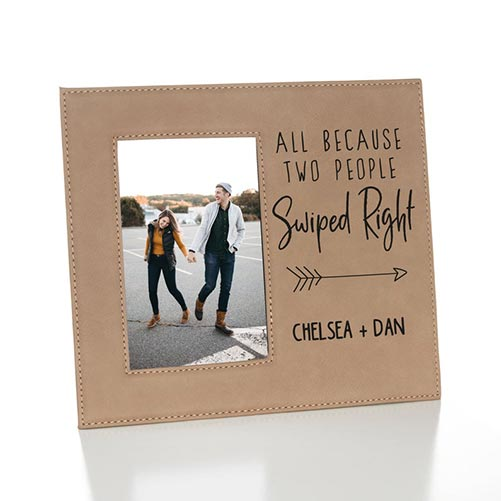 Personalized couple's photo frame