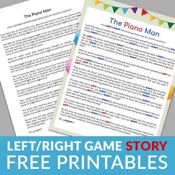 Free Printable: Left/Right Game Story (Non-Holiday)