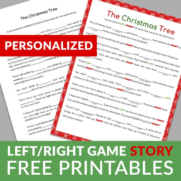 Personalized Left-Right Game Story