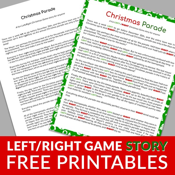 Christmas Stories for Left/Right Game