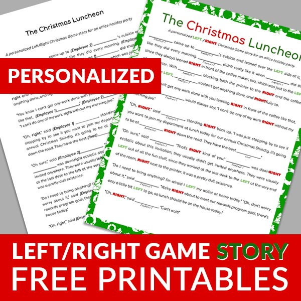 Left Right Game Gift Exchange 5 Free Printable Stories All Gifts Considered