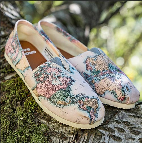 Geography Shoes: Perfect Gift for Their 40th Birthday
