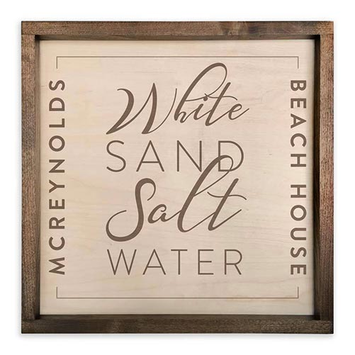 Personalized Beach House Sign: Perfect Gift for Their 40th Birthday