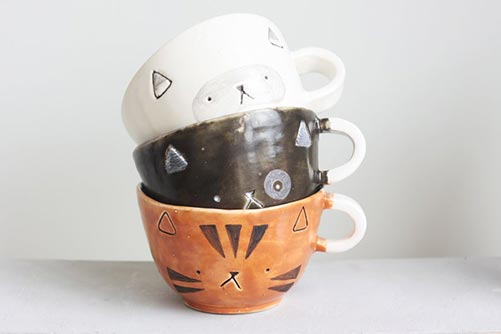 Cute Cat Mugs for Their 50th Birthday Gift