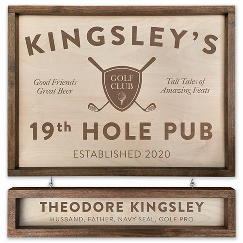 Personalized Golf Sign for Their 50th Birthday Gift