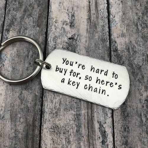 Funny Christmas quote key chain