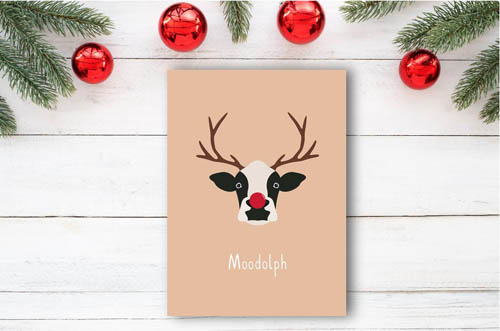 Moodolph the Red Nosed Cow