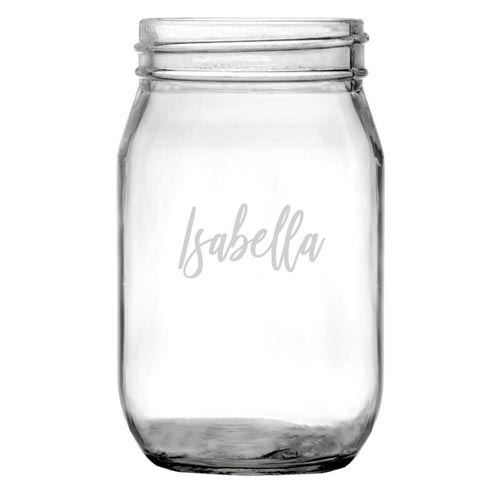 Personalized Mason Jars for Their 21st Birthday