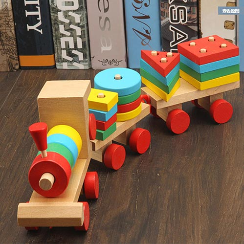 Wooden Train Set-Best Gifts for 3 Year Old's