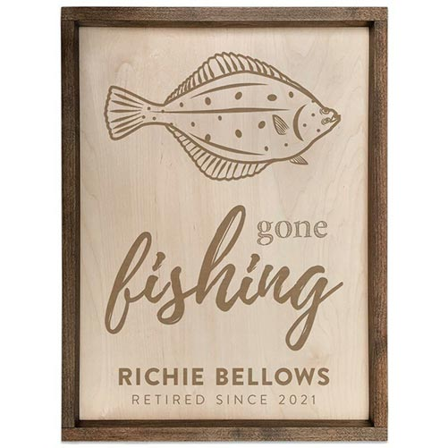 Gone Fishing Wooden Plaque: Best Gifts for Your Employees
