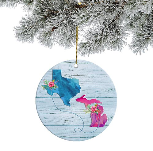 Custom State Map Ornaments: Best Gifts for Your Employees