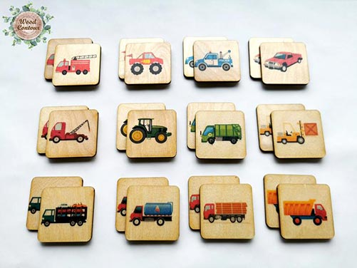 21 Ideas for Five Year Old Gifts- Memory Game
