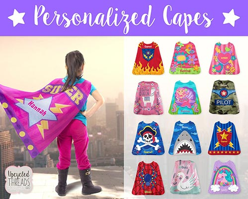 21 Ideas for Five Year Old Gifts- Personalized Cape