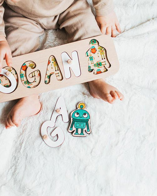 Best Gift Ideas for Four Year Old's: Wooden Name Puzzle