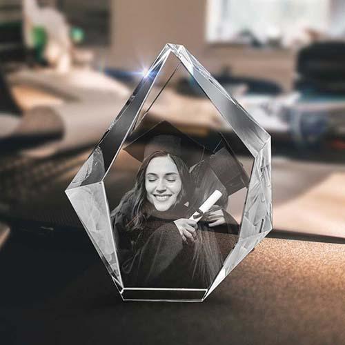 3D Crystal Family Portrait - Christmas Gift Ideas