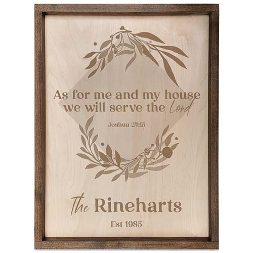As for Me & My House - Family Name Sign