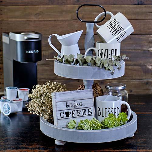 Farmhouse Tiered Tray - Christmas Gift Ideas