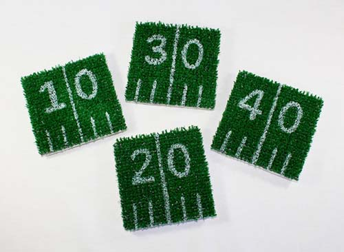 Football Grass Coasters