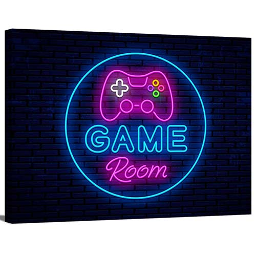 Neon Game Room Sign