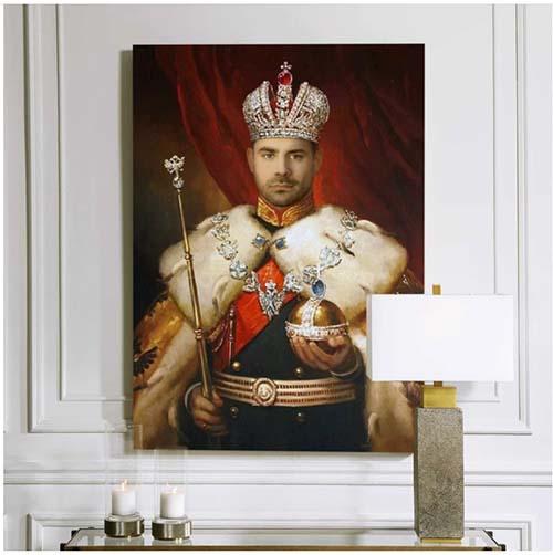 Custom Royal Painting of Himself - Christmas Gift Ideas