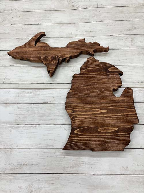 Wooden State Home Plaque