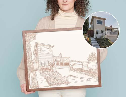 House Portrait Framed Art
