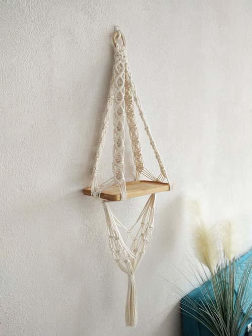 Macramé Wall Haning Shelf - Christmas Gift Ideas