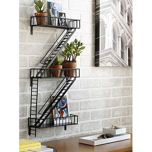 Iron Fire Escape Shelf