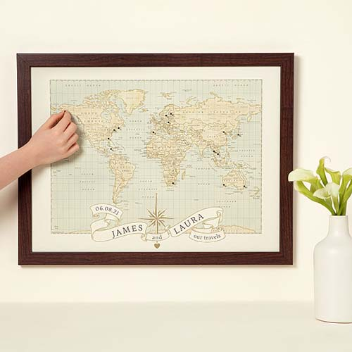Personalized Pushpin Map for Couples