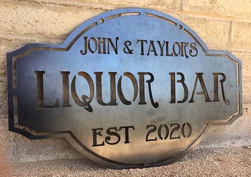 Vintage Metal Bar Sign
