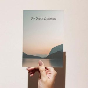 """Product Image - """"Our Deepest Condolences"""" Sympathy Card"""
