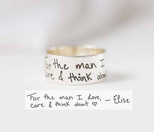 Handwriting Message Ring