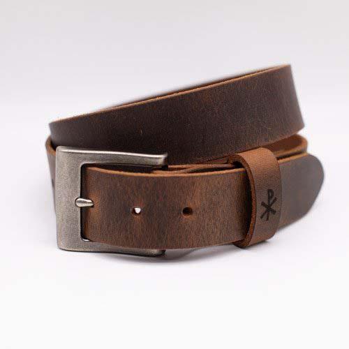 Monogrammed Leather Belt