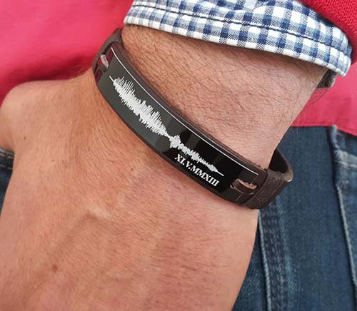 Personalized Sound Wave Bracelet - Personalized Gifts for Him