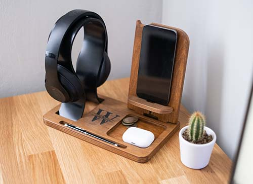 Tech Accessory Stand - Personalized Gifts for Him