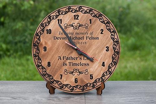 Wooden Memorial Clock