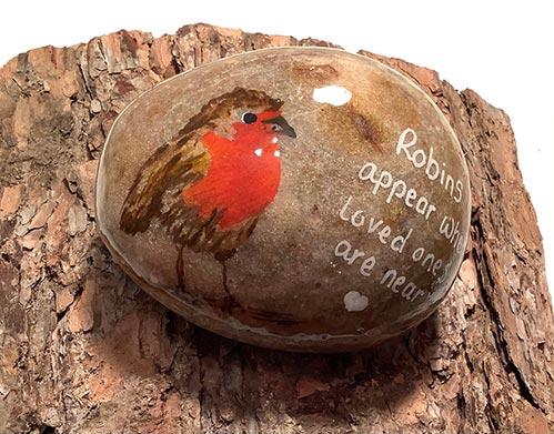 Cardinal Pebble Keepsake