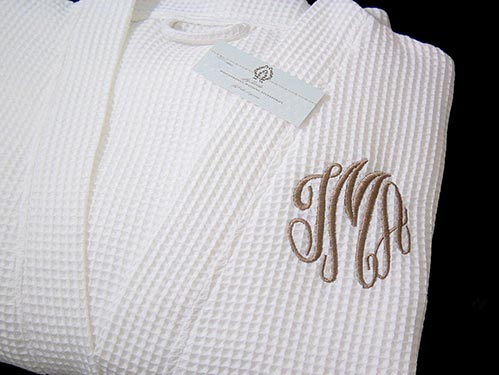 Monogrammed Cotton Robe