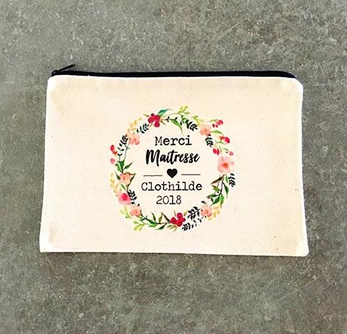 Personalized Cotton Makeup Bag