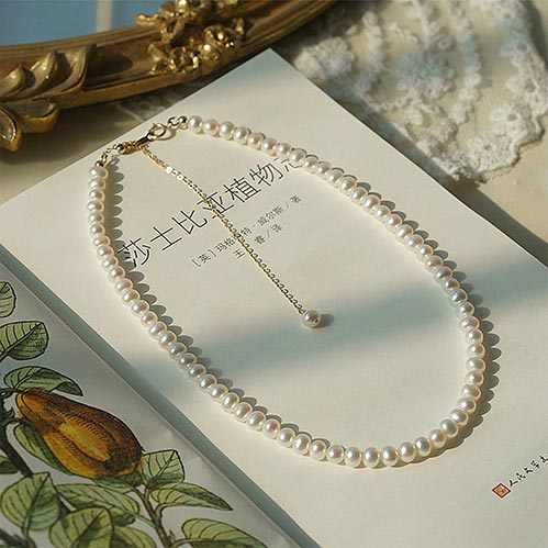 White Pearl Necklace for Her