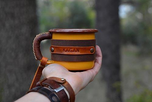 Leather Outdoor Mug