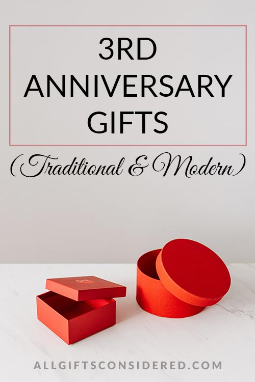 3rd Anniversary Gifts