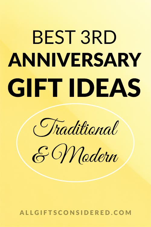 Best 3rd Anniversary Gift Ideas